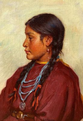 "alt=""Joseph Henry Sharp Navajo Girl"""